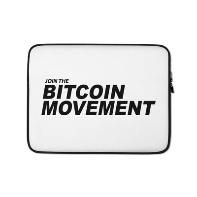 Join The Bitcoin Movement Laptop Sleeve