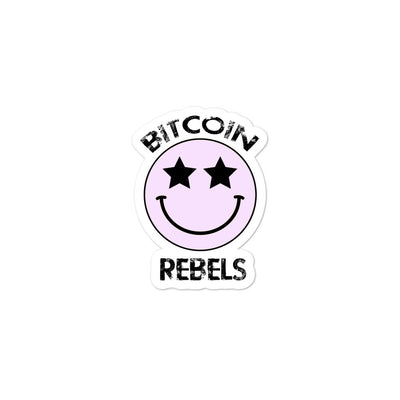 Bitcoin Rebels Bubble-free stickers