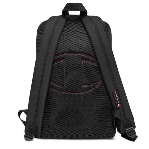 Bitcoin Embroidered Champion Backpack