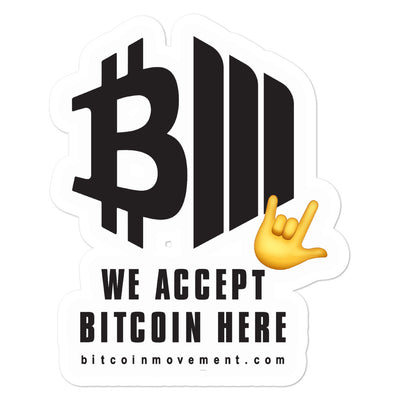 WE ACCEPT BITCOIN - WE ROCK!