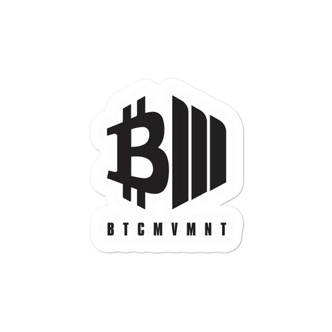 BTCMVMNT Icon Sticker