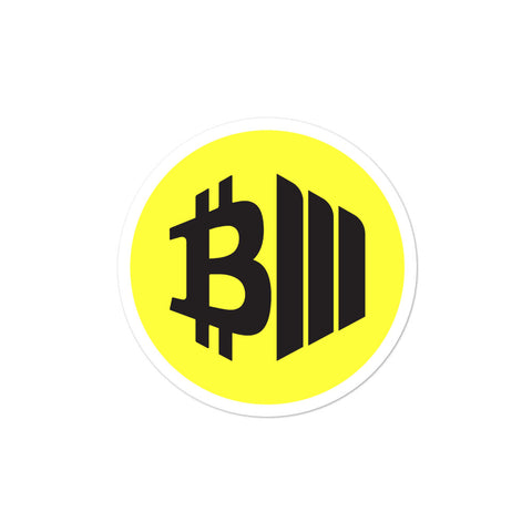 BTCMVMNT [Yellow] Sticker
