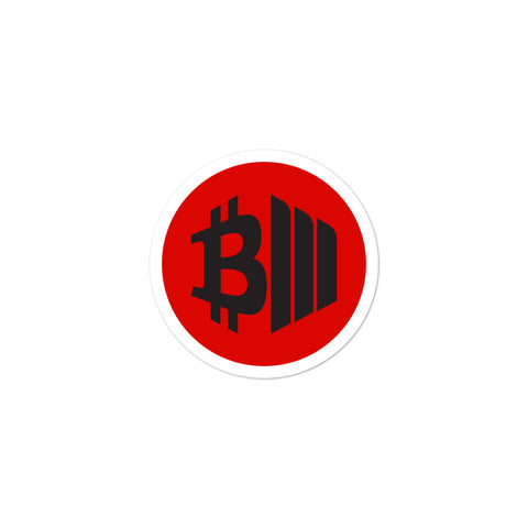 BTCMVMNT [Red Dark] Sticker