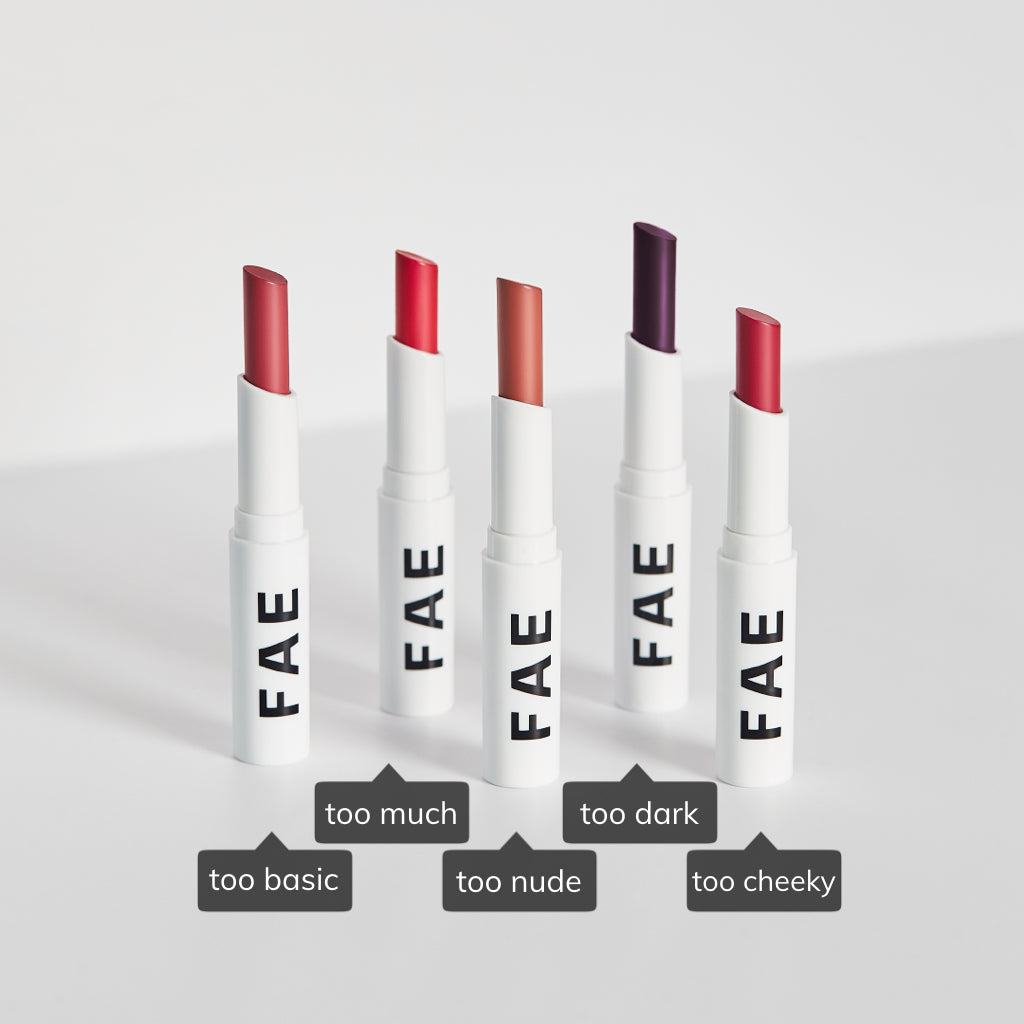 FAE Bundle: Set of 5 Buildable Matte Lipsticks