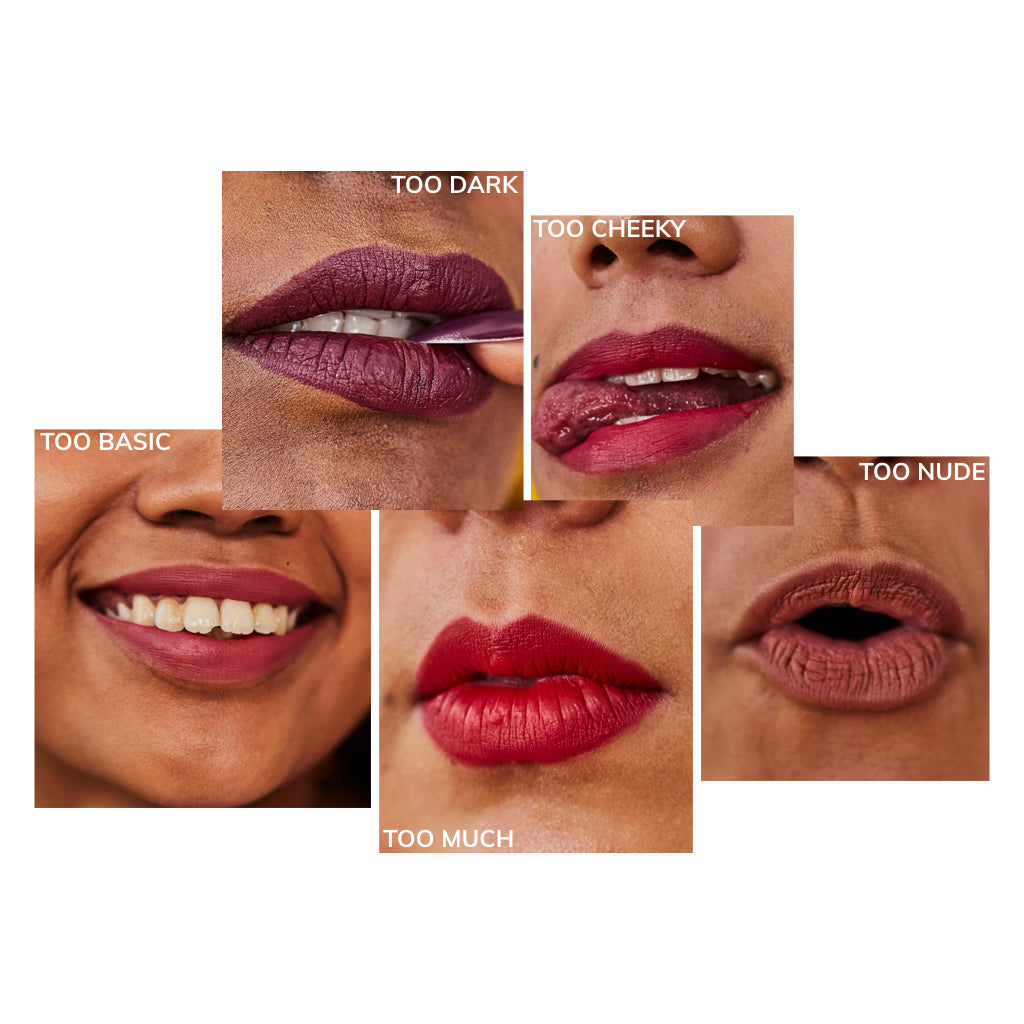 Set of 5 Buildable Matte Lipsticks