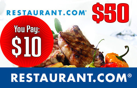 $50 Gift Certificate to Restaurant.com