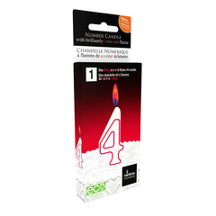 Red Colour Flame Number Candles -  #0-9