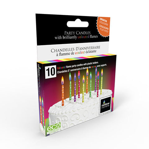 Neon Printed Colour Flame Candles (10-pack)