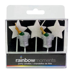 Champagne & Stars Paraffin Shape Candles