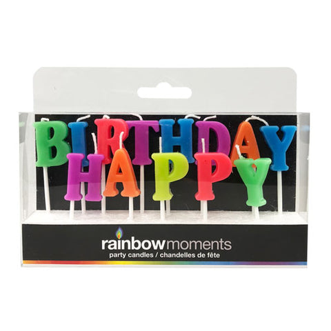Happy Birthday Paraffin Letter Candles