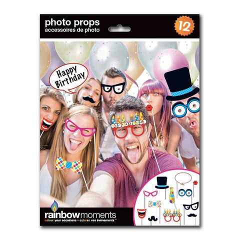 Birthday Photo Prop Kit (12-pack)
