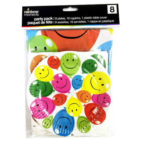 Tableware Kit for 8 – Happy Balloons Theme