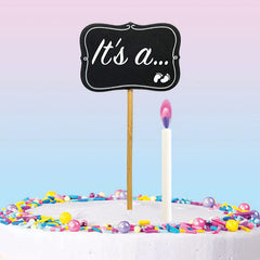 Baby Gender Reveal Cake Topper Kit