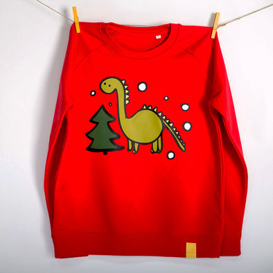 Christmas Dinosaur Jumper