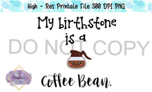 Load image into Gallery viewer, Coffee Bean - Sublimation/printable file