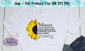 Growing Sunflower - Sublimation/Printable File