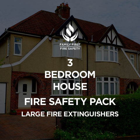 3-Bedroom House Fire Safety Pack | 2kg Fire Extinguisher