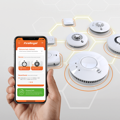 Connected Home Fire & CO Alarm Pack with Gateway | FireAngel Connect | 5 Year Warranty