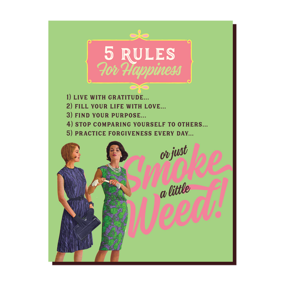5 RULES Card