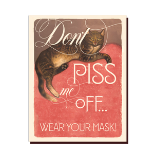 Wear Your Mask Cat card
