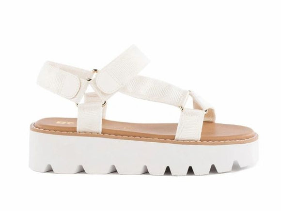 Eye On The Prize White Sandal FINAL SALE