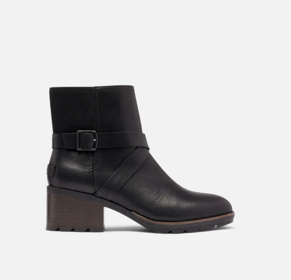Cate Black Buckle boot