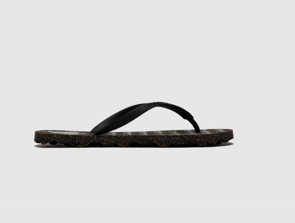 Turtle Flip Flop (women-black/black)