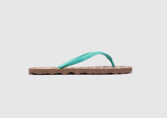 Turtle Flip Flop (women- brown/green)