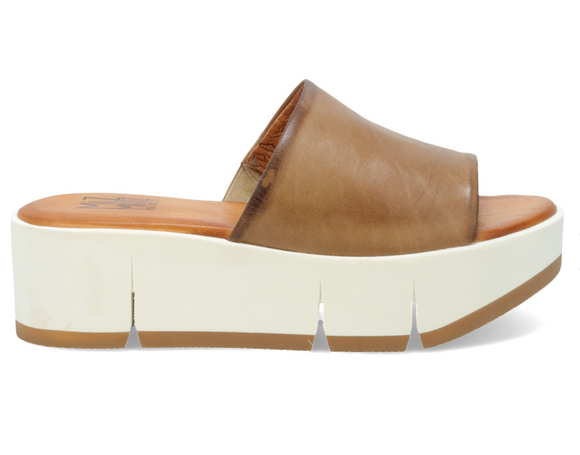 Pollock Beige Leather Mule FINAL SALE