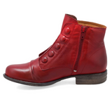 Louise Red Button Boot