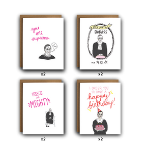 Ruth Bader Ginsburg RBG Assorted Cards - Box Set