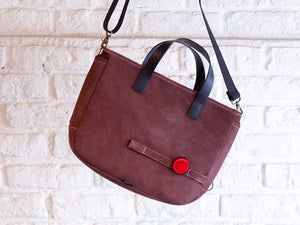 Leather cycle tote bag
