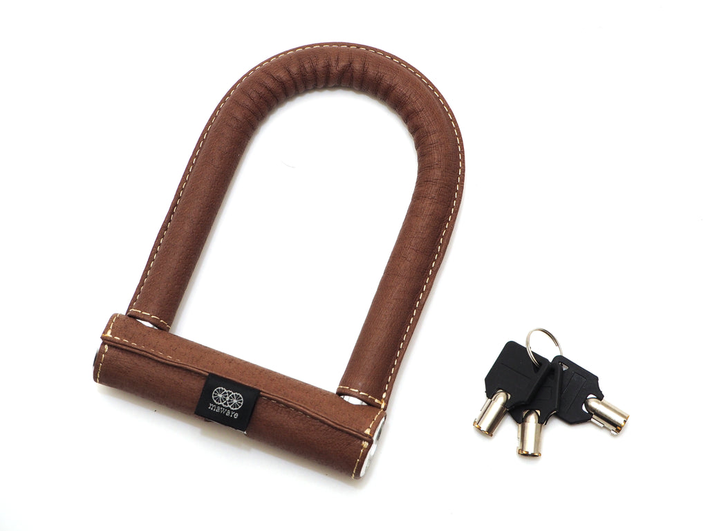 Leather cycle U lock