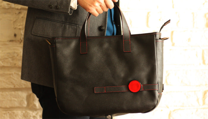mono × maware Leather cycle tote bag