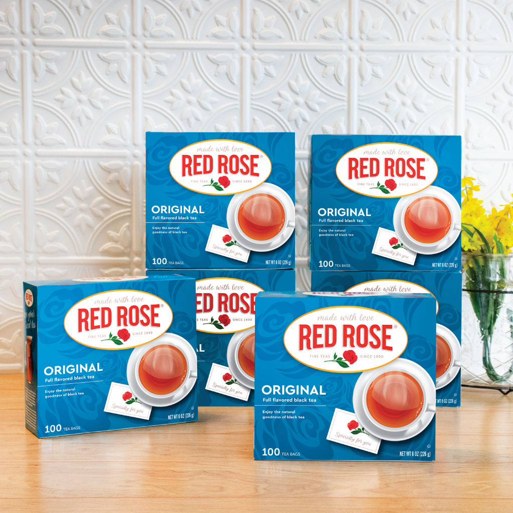 Red Rose Original Black Tea 100ct – 6 pack Non-Envelope