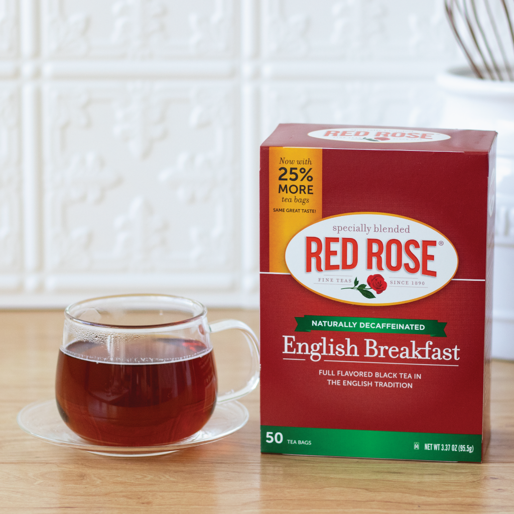 Red Rose English Breakfast Decaffeinated Tea 50ct