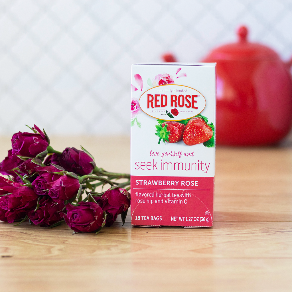 Strawberry Rose Flavored Herbal Tea 18ct