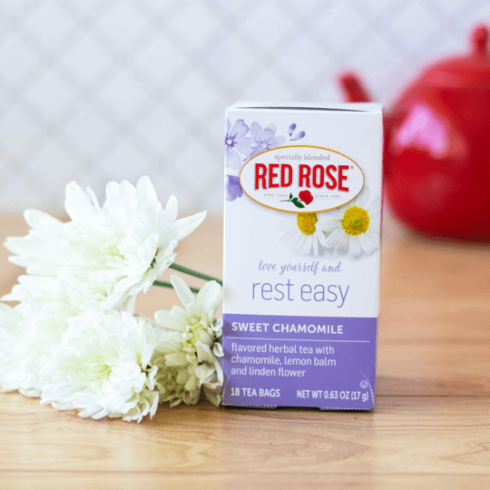 Red Rose Sweet Chamomile Herbal Tea - 18ct