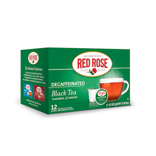 Red Rose Decaf Black Tea Single Serve Cups - 12ct