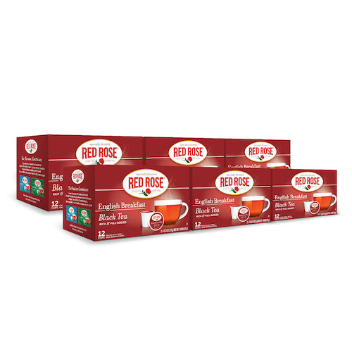 Red Rose English Breakfast Tea Single Serve Cups - 12ct