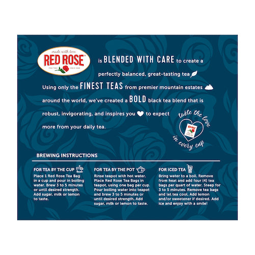 Red Rose Bold Black Tea 40ct