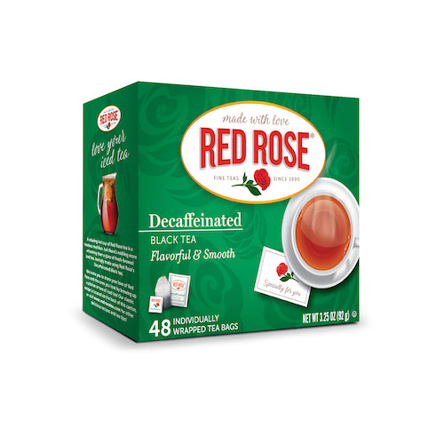 Red Rose Decaf Black Tea - 48ct - 12 pack