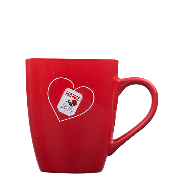 Red Rose Heart Tea Mug