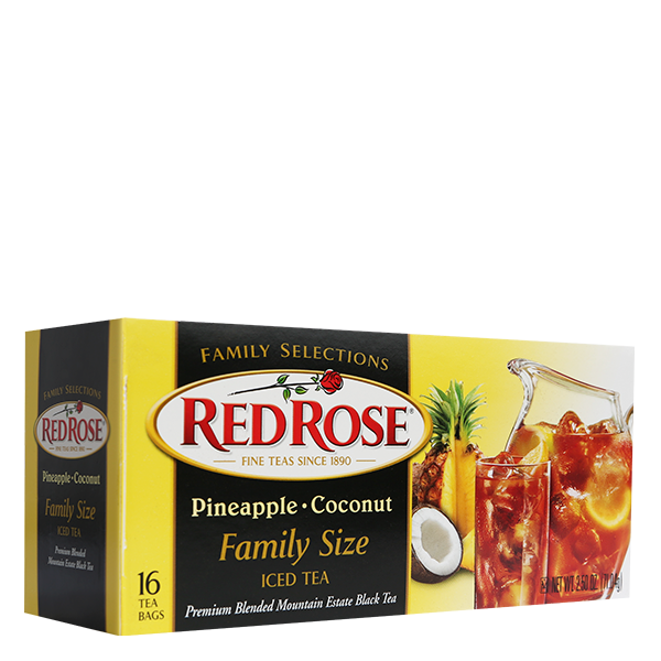 Red Rose Family Selections Pineapple Coconut Iced Tea (16ct)