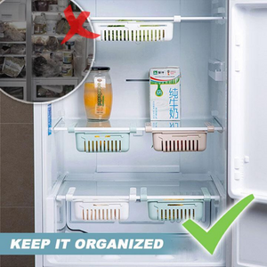 Fridge Organizer™ - Adjustable Storage Rack For Refrigerator Pack of 4