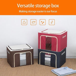 Fabric Storage Boxes™ - For Clothes, Sarees, Bed Sheets, Blanket (Buy 2 Get 1 Free)