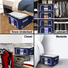 Load image into Gallery viewer, Fabric Storage Boxes™ - For Clothes, Sarees, Bed Sheets, Blanket (Buy 2 Get 1 Free)