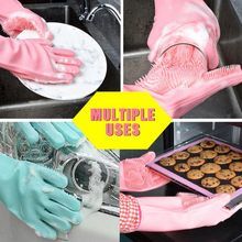 Load image into Gallery viewer, Reusable Silicone Cleaning Gloves (Multicolor)