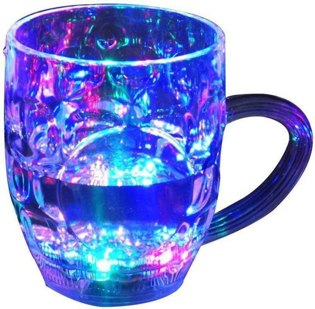 619 Led Glass Cup (Rainbow Color)