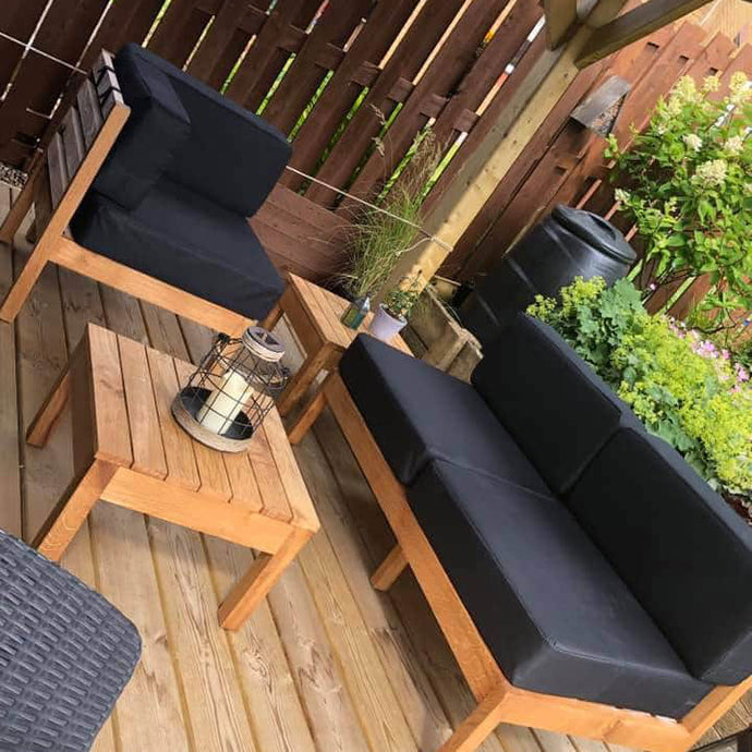Outdoor Seating and tables in Scottish Oak